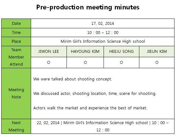 2 2 pre production meeting minutes ji 1 lee blog